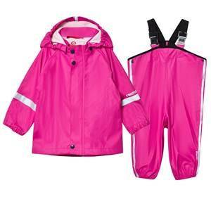 Reima Girls Clothing sets Pink Rain Outfit Tihku Pink