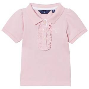 Gant Girls Tops Pink Frill Polo California Pink