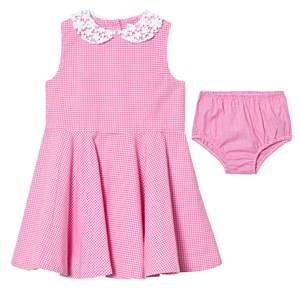 Ralph Lauren Girls Dresses Pink Pink Gingham Dress Bloomers