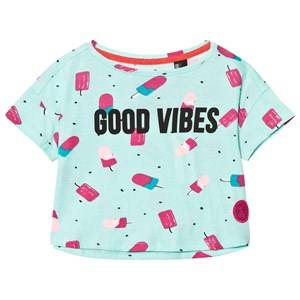 Oneill Boys Tops Blue Blue Good Vibes Lollipop Print Tee