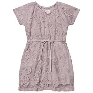 Noa Noa Miniature Girls Tops Purple Mini New Net Dress Gull Grey