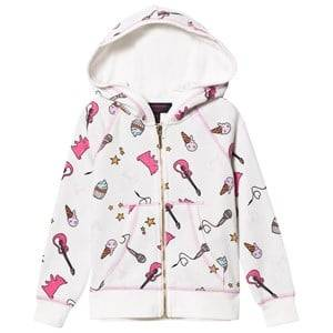 Juicy Couture Girls Jumpers and knitwear White White Multi Food and Music Print Hoody