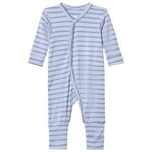 Hust&Claire; Boys All in ones Blue Striped Jumpsuit Bamboo Zen Blue