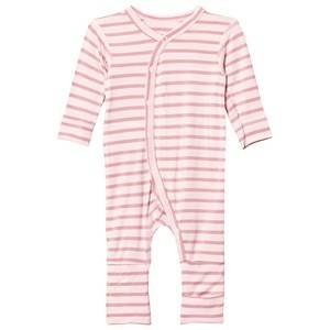 Hust&Claire; Girls All in ones Pink Striped Jumpsuit Bamboo Rose Tan