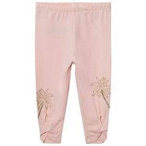 Billieblush Girls Bottoms Pink Blush Pink Leggings with Glitter Palm and Tie Detail