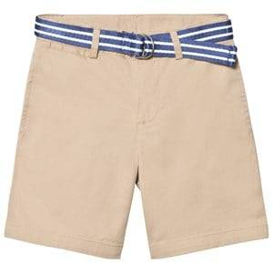 Ralph Lauren Boys Shorts Beige Beige Classic Chino Shorts Belt