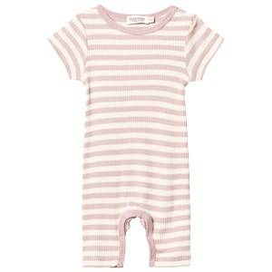 MarMar Copenhagen Girls All in ones Pink Summer Rompy One-Piece Faded Rose/Off White
