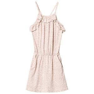 MarMar Copenhagen Girls Dresses Pink Leopard Dita Dress Faded Rose Leo