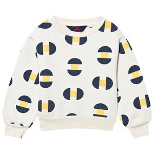 The Animals Observatory Unisex Jumpers and knitwear White Bear Sweatshirt Raw White Geometric