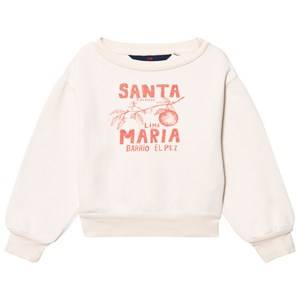 The Animals Observatory Unisex Jumpers and knitwear White Bear Sweatshirt Raw White Santa Maria