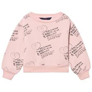 The Animals Observatory Unisex Jumpers and knitwear Pink Bear Sweatshirt Pink Kids Museum