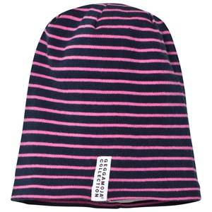 Geggamoja Girls Headwear Pink Topline Hat Navy/Pink