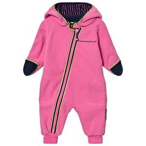Geggamoja Girls Fleeces Pink Fleece Overall Pink