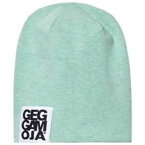 Geggamoja Unisex Headwear Green Two Color Hat Green Melange/White