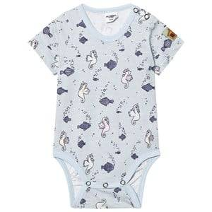 Modéerska Huset Unisex All in ones Blue Short Sleeve Baby Body Going for a Ride