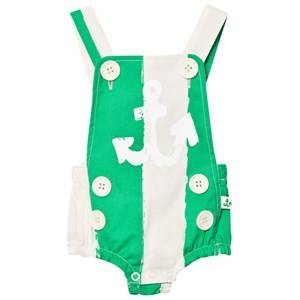 Noe & Zoe Berlin Unisex All in ones Green Green Stripe Sailor Romper