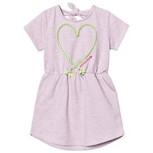 Andy & Evan Girls Dresses Pink Pink Knit Dress With Applique Knot Heart