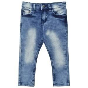 Nova Star Unisex Bottoms Blue Tapered Denim Jeans Blue