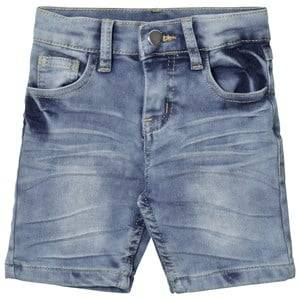 Nova Star Unisex Bottoms Blue Denim Slim Soft Shorts Blue