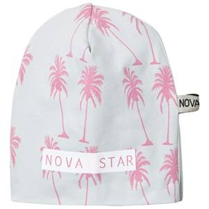 Nova Star Unisex Headwear Grey Beanie Pink Palms Grey