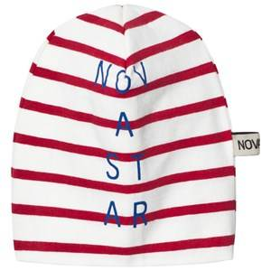 Nova Star Unisex Headwear Red Beanie Line Off White/Red