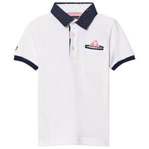 Mayoral Boys Tops White White Smart Polo with Contrast Collar