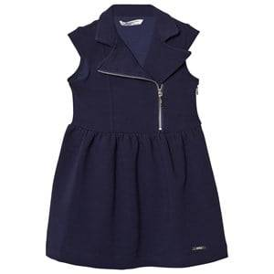 Mayoral Girls Dresses Navy Navy Rib Jersey Biker Dress