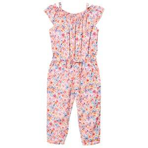 Mayoral Girls All in ones Pink Pink Multi Floral Jumpsuit