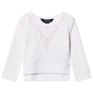 Image of Ralph Lauren Boys Jumpers and knitwear White White Polo Branded Sweatshirt