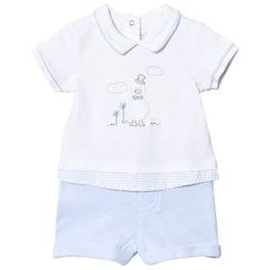 Mayoral Boys Clothing sets Blue White And Blue Duck Romper