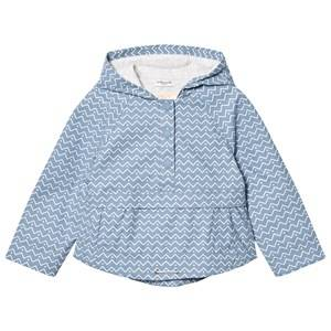 Cyrillus Girls Coats and jackets Blue Pale Blue Printed Hooded Raincoat