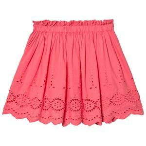 Cyrillus Girls Skirts Pink Pink Broderie Anglaise Skirt