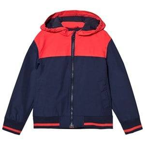 Cyrillus Boys Coats and jackets Navy Navy and Red Hooded Windbreaker