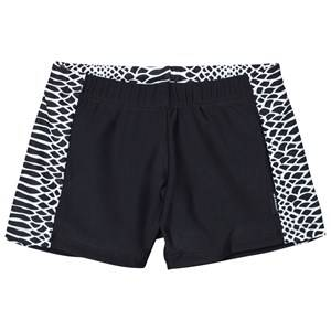 Lindberg Boys Swimwear and coverups Multi Vincent Swim Trunk Black/White