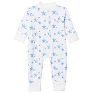 Livly Boys All in ones White One-Piece Neon Blue Stars