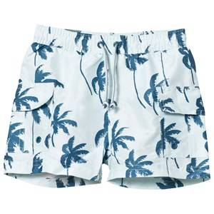 Mini A Ture Boys Swimwear and coverups Mateo K Surf Shorts Blue Ashes