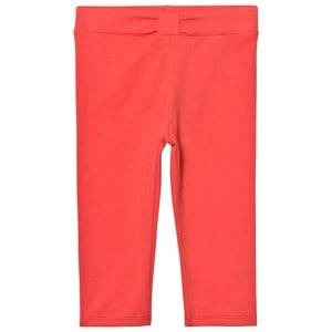 IKKS Girls Bottoms Orange Coral Leggings with Bow Waist