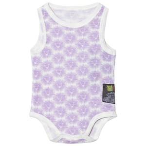 Kattnakken Unisex All in ones Purple Wool Sleeveless Baby Body Lavender Lion
