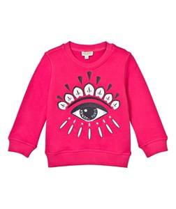 Kenzo Girls Jumpers and knitwear Pink Eye Applique Sweatshirt Hot Pink