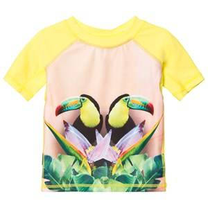 Molo Unisex Swimwear and coverups Yellow Neptune Top Mirror Toucans