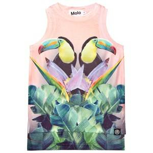 Molo Girls Tops Yellow Ro Tank Top Mirror Toucans