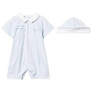 Emile et Rose Boys All in ones Blue Kempe Pale Blue Sailor Romper and Hat Set