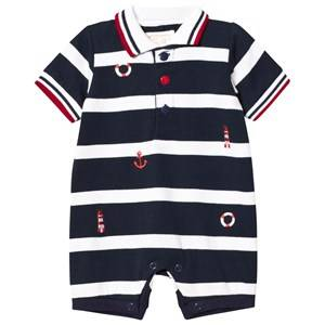 Emile et Rose Boys All in ones Navy Navy and White Stripe Nautical Romper