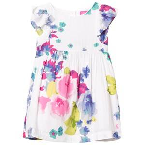Joules Girls Dresses Multi White Floral Woven Party Dress