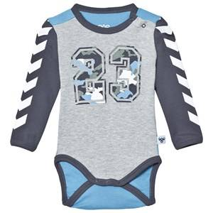 Hummel Boys All in ones Grey Fred Baby Body Grey Melange