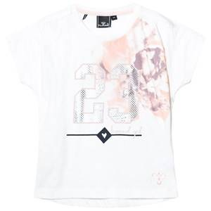 Hummel Girls Tops White Caroline Tee Snow White