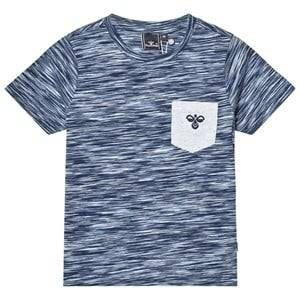 Hummel Boys Tops Navy Ove Tee Multi Color