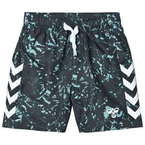 Hummel Boys Shorts Navy Sub Shorts Multi Color Blue