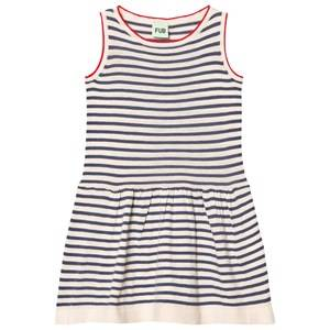FUB Girls Dresses Blue Dress Ecru/Denim