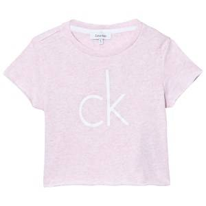 Calvin Klein Girls Tops Pink Pink Branded Cropped Tee